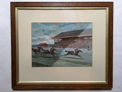 John Beer - Watercolour - Edward VII Horse Winning 2000gns Newmarket (1 of 1)