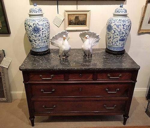 Late 18thc French Louis XVI Mahogany Commode Chest (1 of 1)
