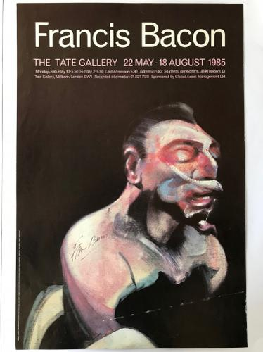 Francis Bacon - Tate Gallery Exhibition Poster - Signed - Very Rare (1 of 1)