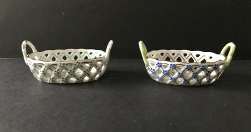 Two Miniature Herend Open Weave Baskets (1 of 1)