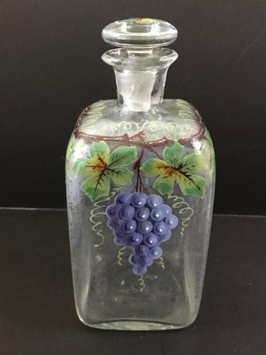 Hand Painted Decanter C.1915 (1 of 1)