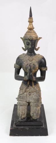Fabulous Thai Bronzed Figure in Prayer (1 of 1)
