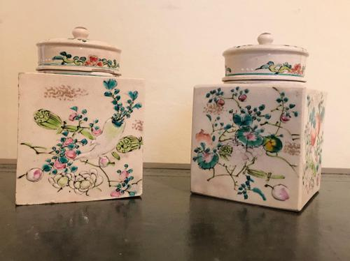Pair of Attractive Japanese Earthenware Jars C.1910 (1 of 1)