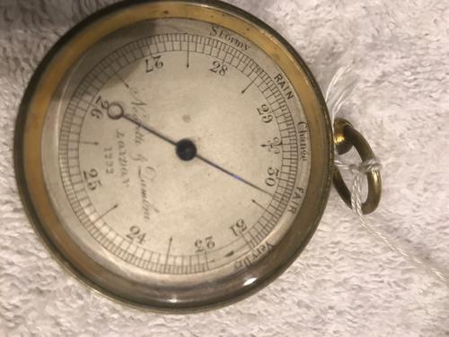 Brass Pocket Barometer by Negretti & Zambia (1 of 7)