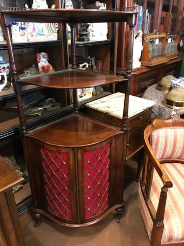 Mahogany Corner Cupboard (1 of 7)