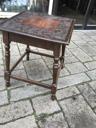 Carved Oak Table c.1880 (1 of 6)
