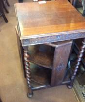 Unusual Revolving Oak Bookcase (1 of 1)