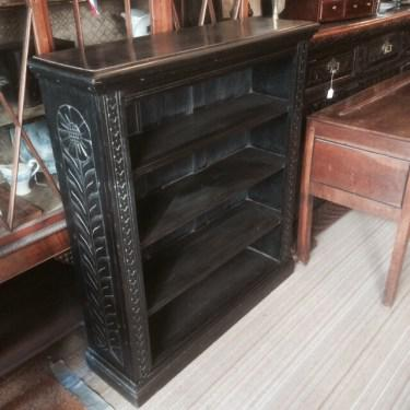 Carved Oak Open Bookcase (1 of 1)