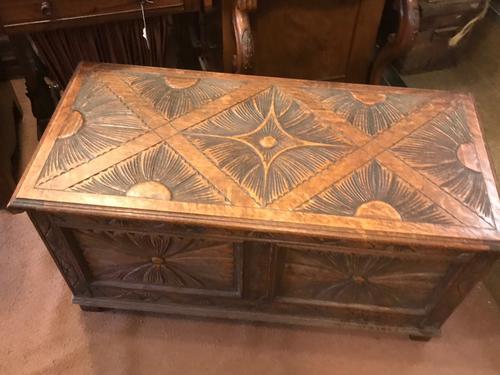 Carved Oak Coffer (1 of 1)