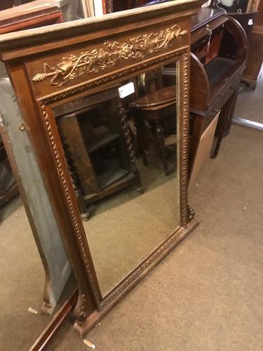 Gilt & Mahogany Mirror C.1890 (1 of 1)
