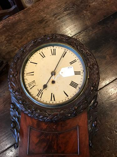 8 Inch Early Fusee Drop Dial Clock (1 of 1)