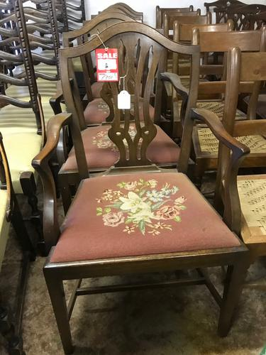 Set of 6 Mahogany Dining Chairs (1 of 1)