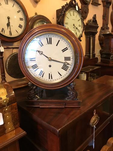 """Unusual 8"""" Fusee Dial Clock (1 of 1)"""