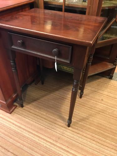 Mahogany 1 Drawer Side Table C.1860 (1 of 1)