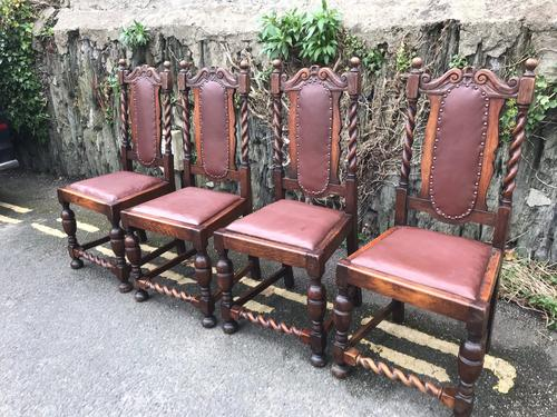 Set of 4 Oak Dining Chairs (1 of 1)