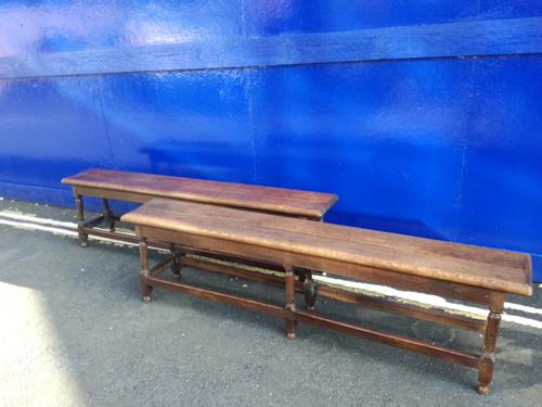 Pair of Oak Benches c.1920 (1 of 1)
