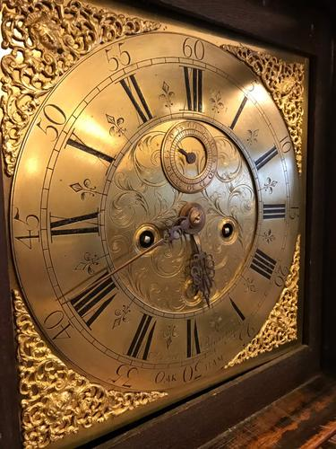 Oak Brass 8 Day Grandfather Clock (1 of 1)