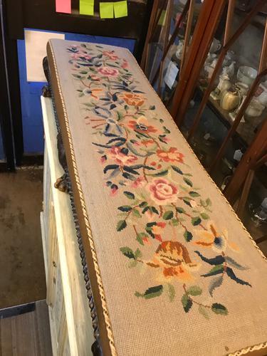 Nice Tapestry Stool C.1920 (1 of 1)