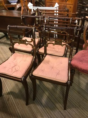 Brass Inlaid Regency Chairs (1 of 1)