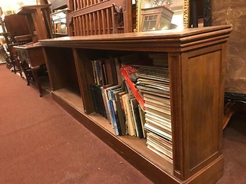 Large Long Oak Bookcase (1 of 1)