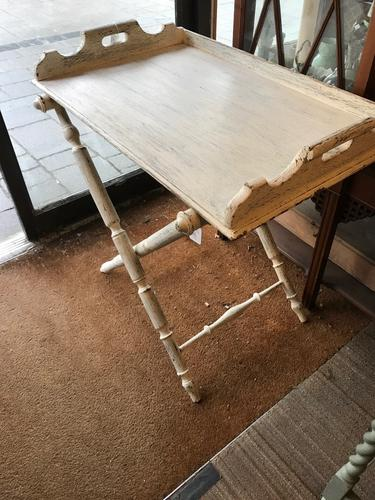 Antique Butlers Tray & Stand (1 of 1)