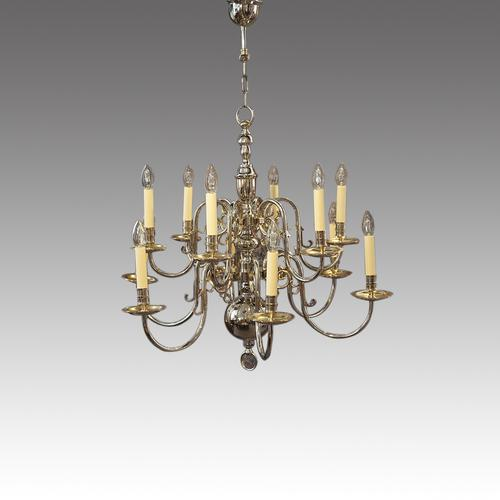 Silver Plated Chandelier (1 of 2)