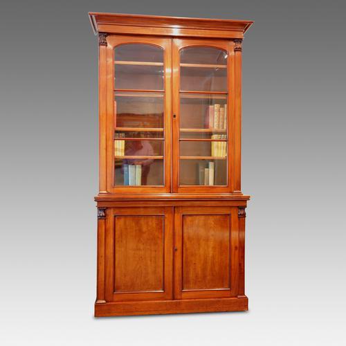 Victorian Mahogany Library Bookcase (1 of 1)