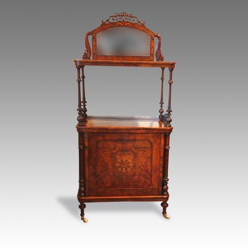 Victorian Inlaid Walnut Music Cabinet Whatnot (1 of 1)