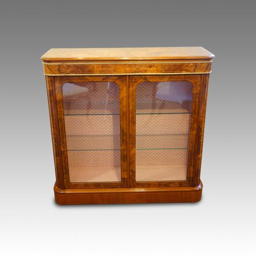 Victorian Inlaid Walnut Pier Cabinet (1 of 1)