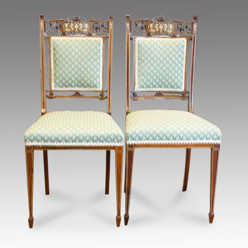 Pair of Inlaid Rosewood Side Chairs (1 of 1)