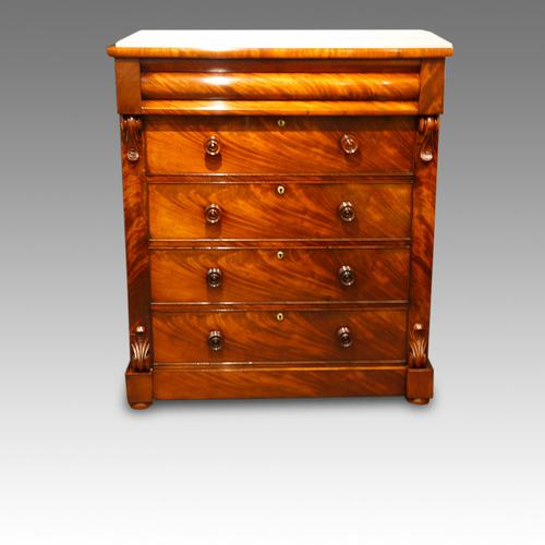 Victorian Mahogany 'Scottish' Chest of Drawers (1 of 1)