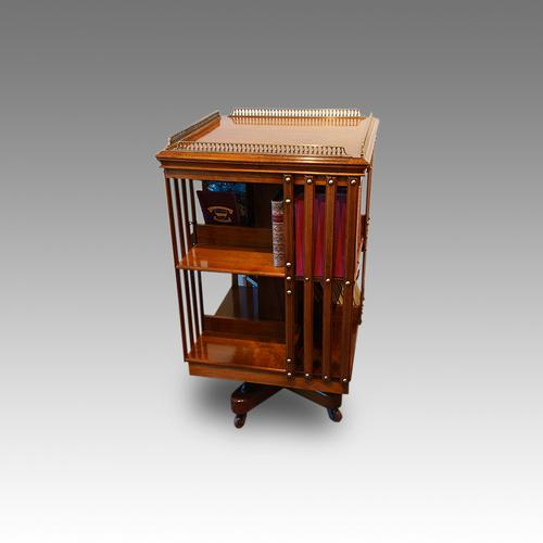 Edwardian Walnut Revolving Bookcase (1 of 1)