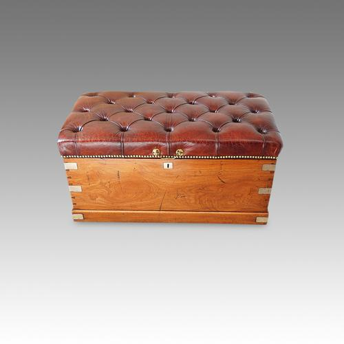 Victorian Camphor Wood Ottoman Trunk (1 of 1)