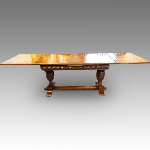 Harrods Oak Refectory Draw-Leaf Dining Table (1 of 1)