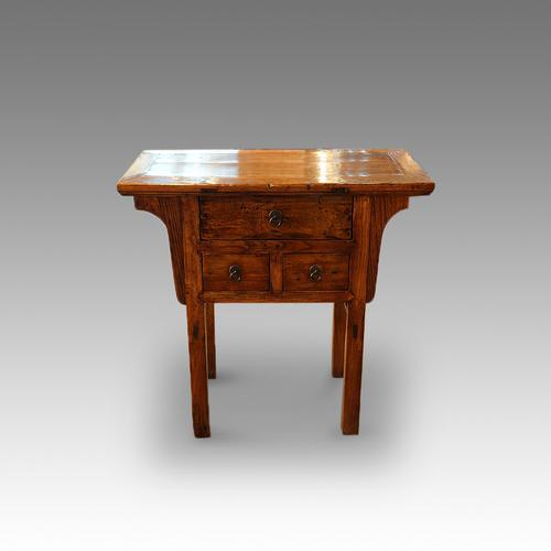 Chinese Elm Hall Table (1 of 1)