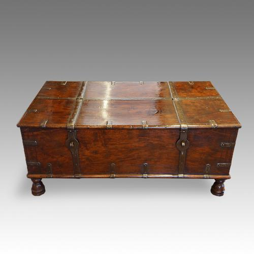 Antique Colonial Hardwood Merchants Chest (1 of 1)