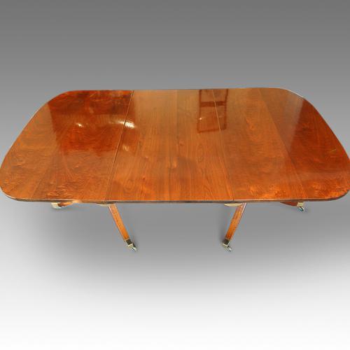 Antique Walnut Twin Pillar Dining Table C.1880 (1 of 1)