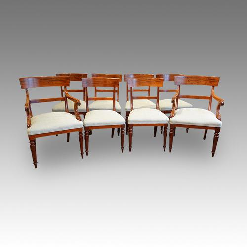 Set of 8 William IV Dining Chairs (1 of 1)