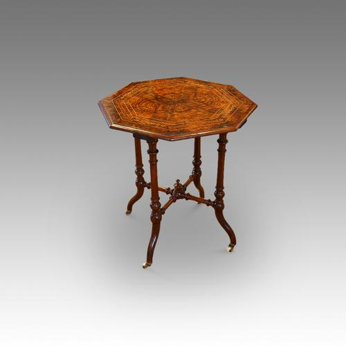 Victorian Inlaid Walnut Wine Table (1 of 1)