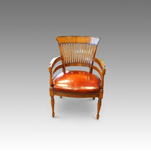 Edwardian Oak Desk Chair C.1910 (1 of 1)