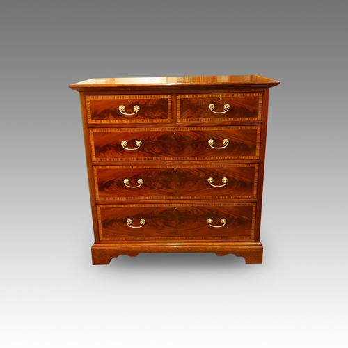 Edwardian Inlaid Mahogany Chest of Drawers (1 of 1)