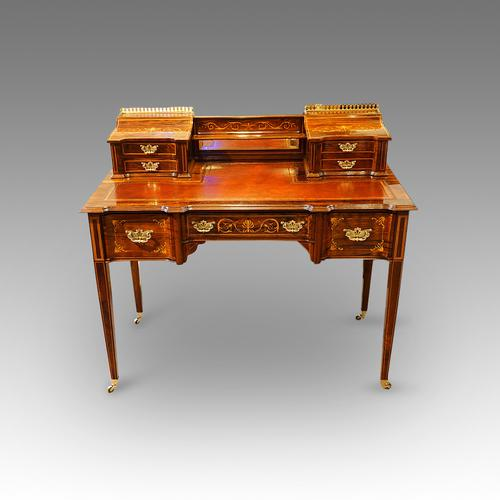 Edwardian Inlaid Rosewood Desk by James Shoolbred & Co (1 of 1)