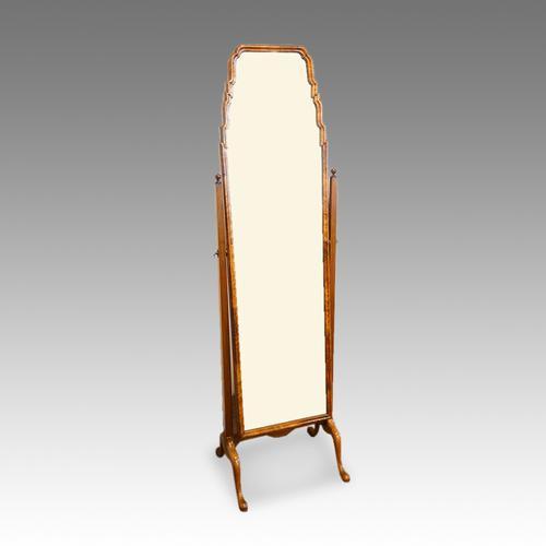 Walnut Dressing Mirror C.1930 (1 of 1)