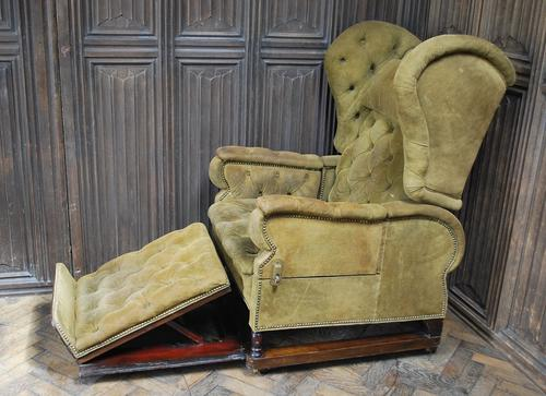 Foots Patent Reclining Chair c.1890 (1 of 9)