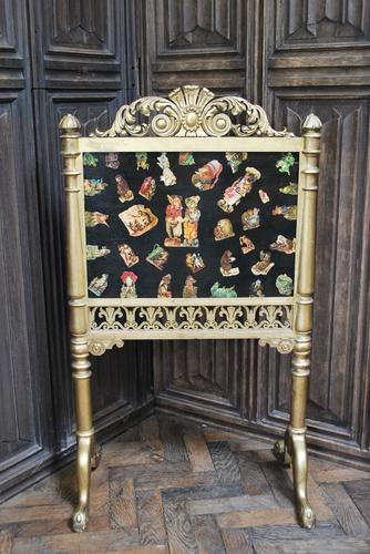 Carved Giltwood Firescreen c.1900 (1 of 4)