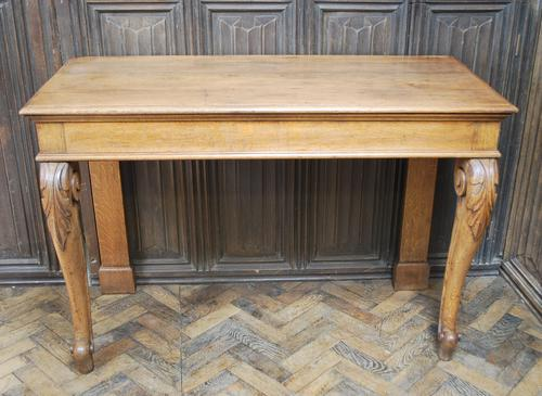 Antique Oak Console Hall Table c.1850 (1 of 9)