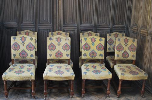 Set of Eight Tapestry Dining Chairs (1 of 9)