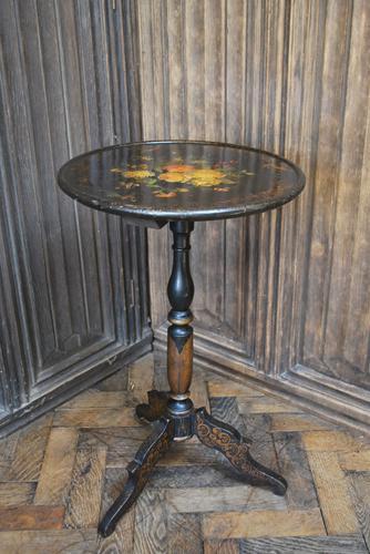 Antique French Ebonised Tripod Table (1 of 6)