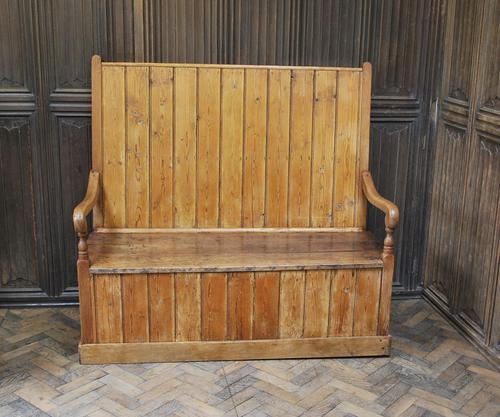 Antique English Pine Settle (1 of 7)