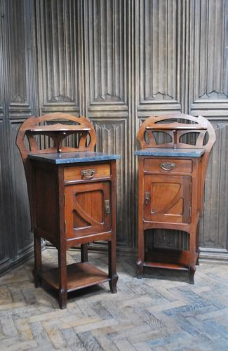 Pair of Art Nouveau Bedside Cabinets (1 of 7)